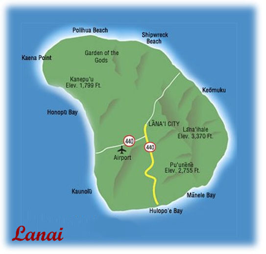 Hawaiian Honeymoons Lanai Overview Activities Photos Map